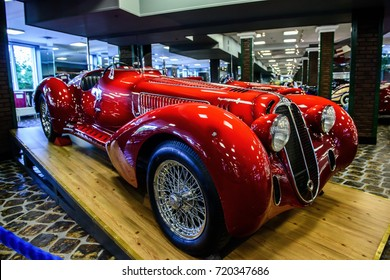 MOSCOW - JULY 20, 2017: Alfa Romeo model 8C2900B in Vadim Zadorozhny Technology Museum