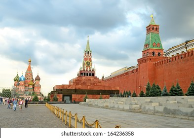 MOSCOW - JULY 20: Red Square on July 20, 2013 in Moscow, Russia. The Kremlin and Red square were listed as a UNESCO World Heritage Site in 1990.