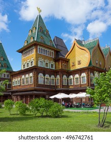 MOSCOW - July 2016: The wooden palace of Tsar Alexei Mikhailovich