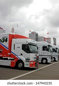 MOSCOW - JULY 21: Russian stage of the Superbike World Championship, on July 21, 2013, in Moscow Raceway, Moscow, Russia.