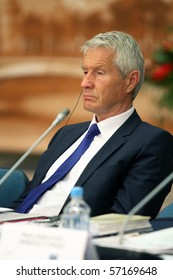 MOSCOW - JULY 8: Thorbjorn Jagland, Secretary-General of the Council of Europe, during a 15 CEMAT conference, July 8, 2010 in Moscow, Russia.