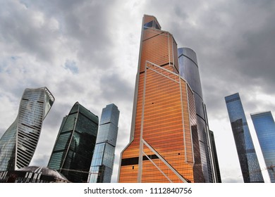 MOSCOW - JUNE 14, 2018: Moscow City business and apartments center. Popular landmark, example of modern Moscow architecture.