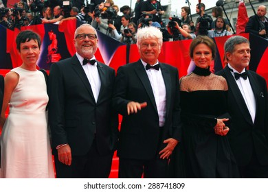 MOSCOW - JUNE 19, 2015: Main competition jury members of Moscow Film Festival.