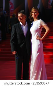 MOSCOW - JUNE 20, 2013: Anton Tabakov at XXXV Moscow International Film Festival red carpet opening ceremony.