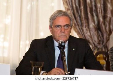 MOSCOW - JUNE, 20: Ambassador of Italy Cesare Maria Ragaglini. Press conference Russian Italian film Amori elementari. Welcome reception at the Embassy of Italy. June 20, 2014 in Moscow, Russia