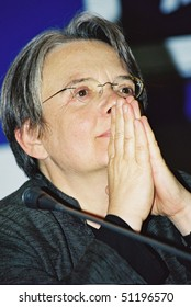 MOSCOW - JUNE 21: Agnieszka Holland   arrives for press conference jury  the 25th Moscow International Film Festival on June 21, 2003 in Moscow, Russia.