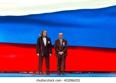 Moscow - JUNE 23: President of RKF, Alexander Inshakov, WORLD DOG SHOW 2016. The exhibition was attended by more than 25,000 dogs of 300 breeds from 41 countries . June 23, 2016 in Moscow, Russia