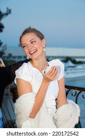 MOSCOW - JUNE, 25: Actress Marina Orlova. White party Hollywood Reporter Magazine at River restaurant, June 25, 2014 in Moscow, Russia