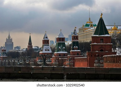 Moscow Kremlin, color photo.