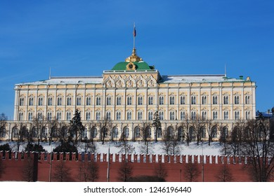 Moscow Kremlin Complex, view of the Grand Kremlin Palace (also known as Great Kremlin Palace)