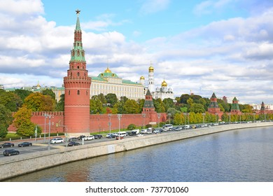 Moscow Kremlin - a fortress in the center of Moscow and its oldest part, was founded in 1156. The official residence of the President of Russia. Moscow, Russia, October 2017