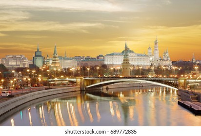 Moscow. The Kremlin. The Grand Kremlin Palace. Grand Kremlin Palace is the decoration of the Moscow Kremlin is the official ceremonial residence of the President of Russia.