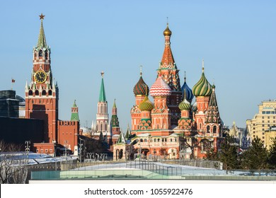 Moscow Kremlin. President Putin's residence in the capital of the Russian Federation.