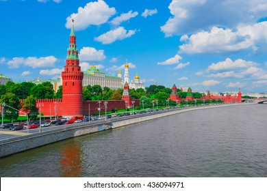 Moscow Kremlin and Moscow River, Russia, Europe