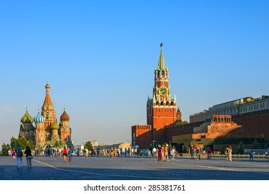 Moscow Kremlin and St. Basil Cathedral on Red Square