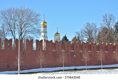 The Moscow Kremlin. The walls of the Moscow Kremlin in the Russian capital.