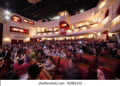 MOSCOW - MAR 17: Spectators watch concert of Gennady Ledyakh School of Classical Dance in theater Et Cetera, Mar 17, 2011, Moscow, Russia. Concert held for winners in competition on Russian language.