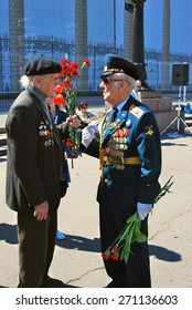 MOSCOW - MAY 09, 2014: Victory Day celebration in Moscow.