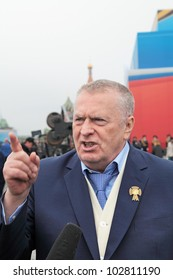 MOSCOW - MAY 09: Celebration anniversary of the Victory Day on Red Square on May 9, 2012 in Moscow, Russia. The Chairman of the liberal democratic party of Russia Vladimir Zhirinovsky on Red Square