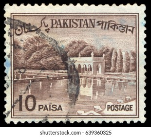MOSCOW, May 1, 2017: PAKISTAN - CIRCA 1961: A stamp printed in Pakistan shows Shalimar Gardens, Lahore, circa 1961