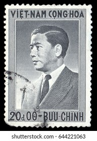MOSCOW, May 1, 2017: VIETNAM - CIRCA 1956: stamp printed by Vietnam, shows Ngo Dinh Diem-the first President of the Republic of Vietnam, circa 1956