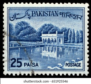 MOSCOW, May 15, 2017:  PAKISTAN - CIRCA 1963: A stamp printed in Pakistan shows Shalimar Gardens (Lahore), construction began in 1641 CE, circa 1963
