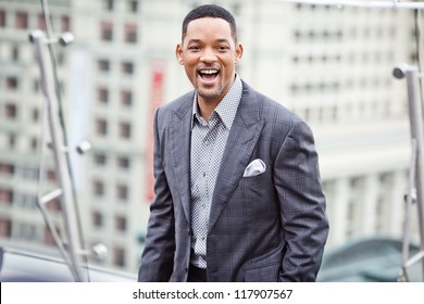 MOSCOW - MAY 18: Will Smith attends the photo call 'Men in black 3' during the premiere of this film on May 18, 2012 in Ritz Carlton Hotel, Moscow, Russia