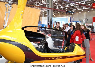 MOSCOW - MAY 19: Gyroplane Calidus at the international exhibition of  the helicopter industry, HeliRussia on May 19, 2011 in Moscow
