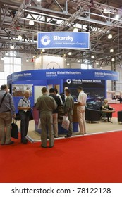 MOSCOW- MAY 21: Exhibits 4-th International Exhibition of Helicopter Industry  on May 21, 2011 in Moscow