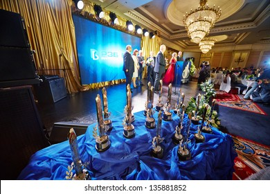 MOSCOW - MAY 29: Annual ceremony of delivery of national award Financial Olympus in Hotel Ritz-Carlton, May 29, 2012, Moscow, Russia. Best financial companies noted by highest professional award.