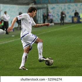 """MOSCOW - MAY 5: Defender FC Dynamo Luke Wilkshire to match Russian Premier League: """"Dynamo"""" (Moscow) - """"Amkar"""" (Perm), May 5, 2010 in Moscow, Russia."""