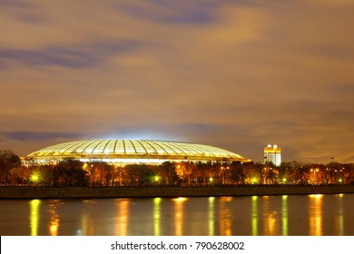 "Moscow night. Palace of Sports ""Luzhniki"""