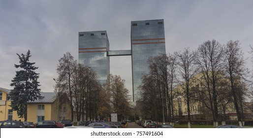 Moscow, - October, 2017. Building of the  Russian IT-company Mail.ru on Leningradskiy prospect