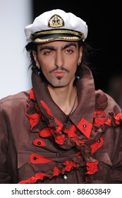 MOSCOW - OCTOBER 23: Model walks runway at the Yegor Zaitsev Collection as John Galliano  for Spring/ Summer 2012 during Volvo Fashion Week on October 23, 2011 in Moscow, Russia