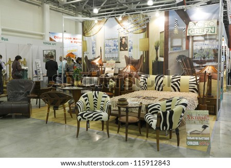 Moscow October 26 Exhibition Furniture Made Stock Photo Edit Now - Palm-tree-furniture-from-pacific-green