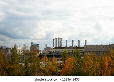 MOSCOW, OCTOBER 5, 2019. View of the First State Power Station of Moscow, which was built in 1896 and was the first Russian station to generate the alternate current. The station is still in operation