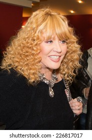 MOSCOW - OCTOBER,7 : Singer Alla Pugacheva. Premiere of the movie Solnechny Udar, October, 7, 2014 at Octyabr Cinema in Moscow, Russia