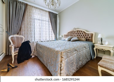 Moscow, Ordzhonikidze street-January 28, 2020: photography of the interior of a two-room apartment.