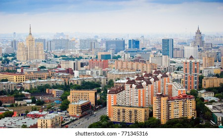 Moscow panorama above