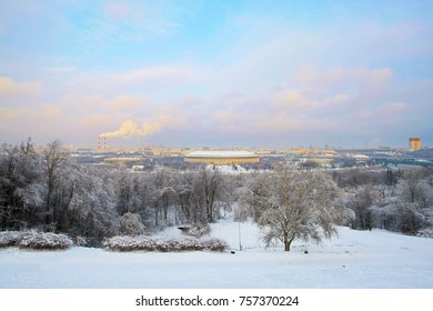 Moscow panorama. Winter