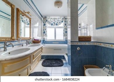 Moscow region, Aleksino manor-November 30, 2019: photography of the interior of a country house.
