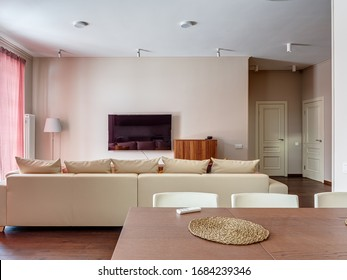 Moscow region, Dmitrovka-October 30, 2019: photography of the interior of a country house.