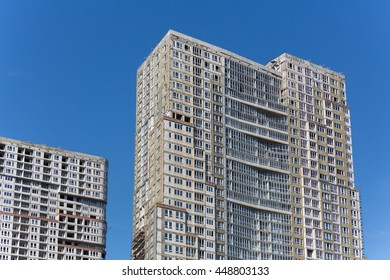 Moscow, residential complex Utesov, Polezhaevskaya, city, architecture, luxury housing, construction of the complex, summer, Russia, nature June 26, 2016