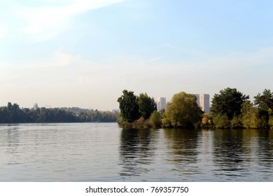 The Moscow River in Serebryany Bor. Russia