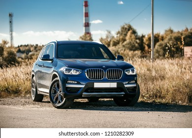 Moscow, RU - OCT 13, 2018: BMW X3 G1 at field