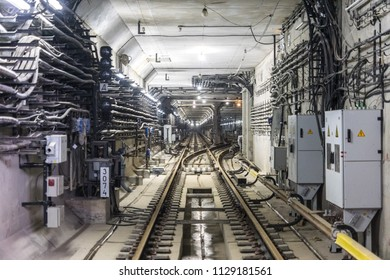 MOSCOW, RUSSIA - 03 july 2018: The completion of the construction of tunnels in the Moscow metro.