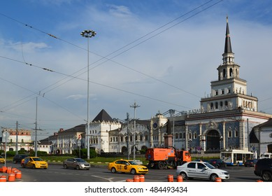 Moscow, Russia -03 June 2016. General view of Komsomolskaya Square in summer day