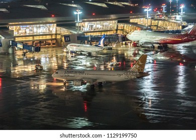 MOSCOW, RUSSIA - 04 july 2018: Cham Wings Airlines plane from Syria landed at Vnukovo international airport