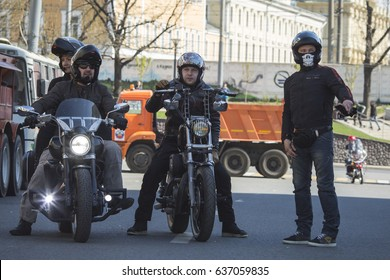 "Moscow, Russia 05/06/2017: the first motofestival ""Moscow - a city for motorcyclists"". It was held in support of the development of motorcycle culture and safety on the roads."