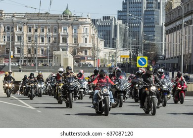 """Moscow, Russia 05/06/2017: the first motofestival """"Moscow - a city for motorcyclists"""". It was held in support of the development of motorcycle culture and safety on the roads"""